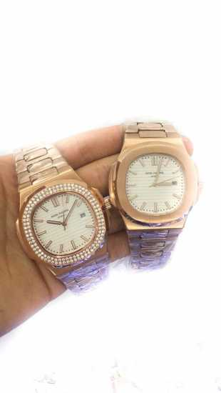 Patek Philippe He And She Wrist Watch Gold Platet