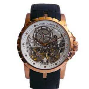 Roger Dubuis excalibur spider double flying tourbillon skeleton