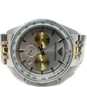 Emporio Armani Solid Stainless Steel Back AR-6116251011 Silver Gold