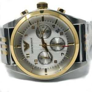Emporio Armani Solid Stainless Steel Back AR-0396 Silver Gold
