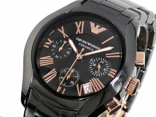 Emporio Armani Ceramica Watch Black
