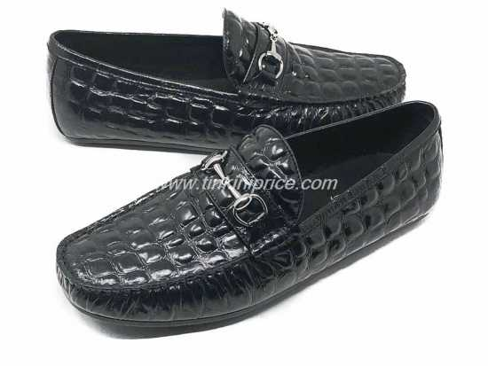 Gucci Croc Skin Black