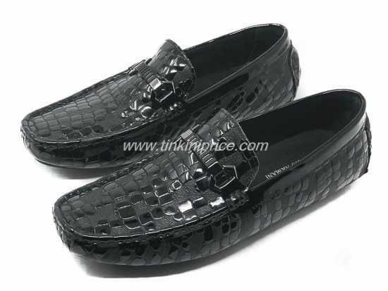 Giorgio Armani Snake Skin Leather Black
