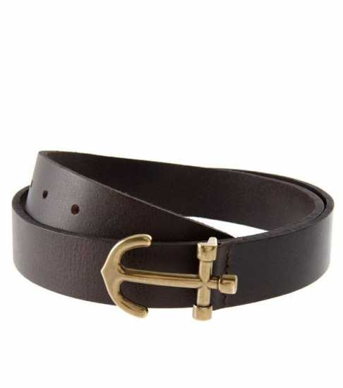 Ralph Lauren Anchor Leather Belt Brown