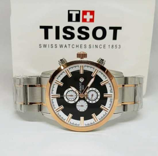 Tissot Chain Wristwatch Silver Gold
