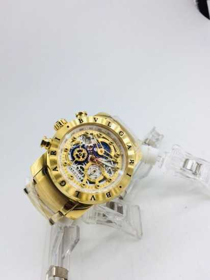 Bvlgari Skeleton Chain Watch Gold Plated