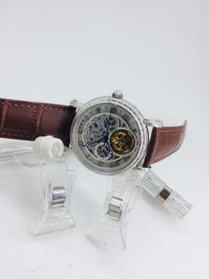Patek Philippe Skeleton Leather Watch  brown