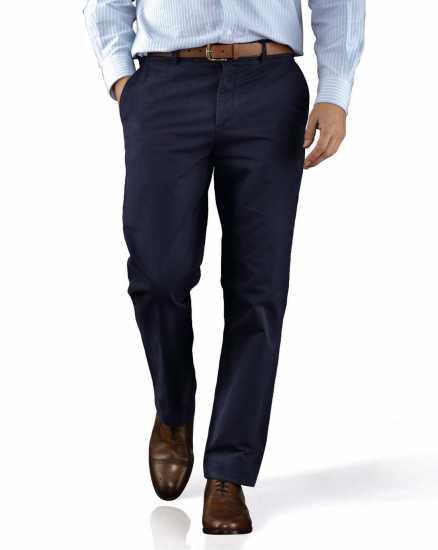 Classic Plain Trouser Navy Blue