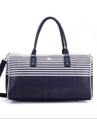 Lacoste Bag White Navy Blue