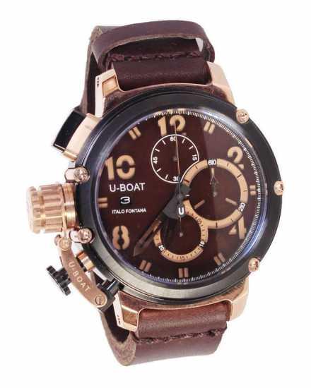 U-Boat Watch Chimera 46 Black Bronze Limited Edition Brown Leather Watch