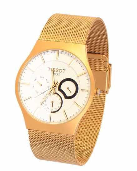 Tissot 1853 Visodate Gold Mesh Chronograph Watch