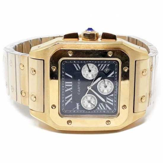Cartier All Stainless Steel Water Resistant Watch - Gold
