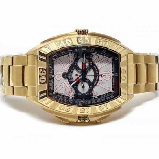 Franck Muller Geneve 990 CC GP Watch - Gold