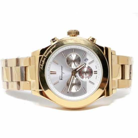 Salvatore Ferragamo Firenze Stainless Steel Watch - Gold
