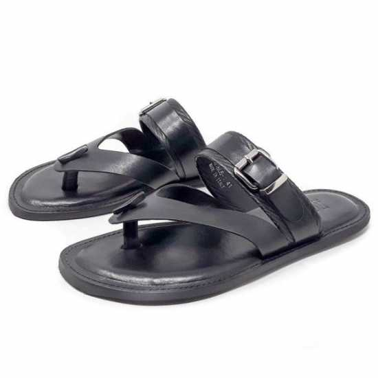 Rossir Buckle Palm Slippers Blue