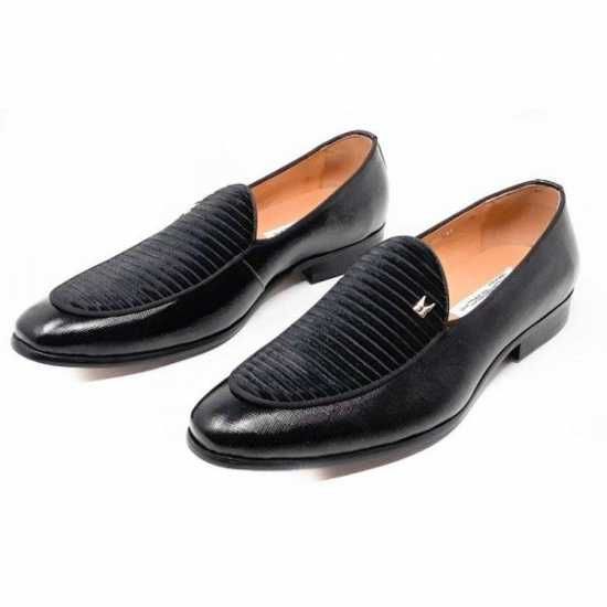 Moreschi Black Loafers Shoe