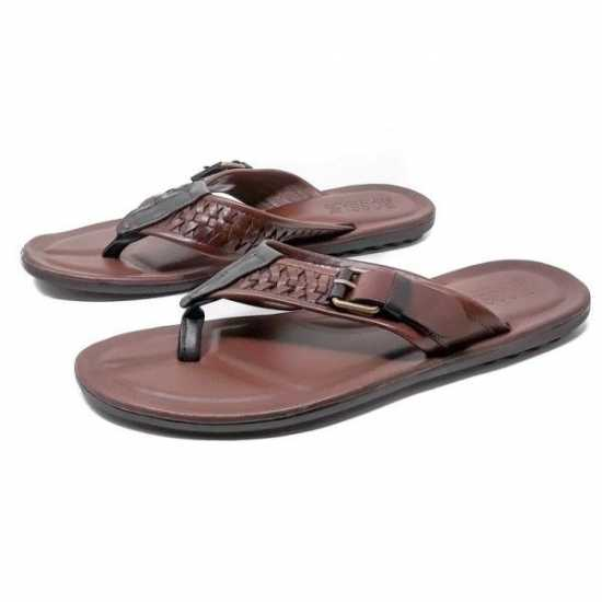 Rossir Palm Slippers Brown