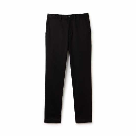 Lacoste Straight Cut Chinos Trouser - Black
