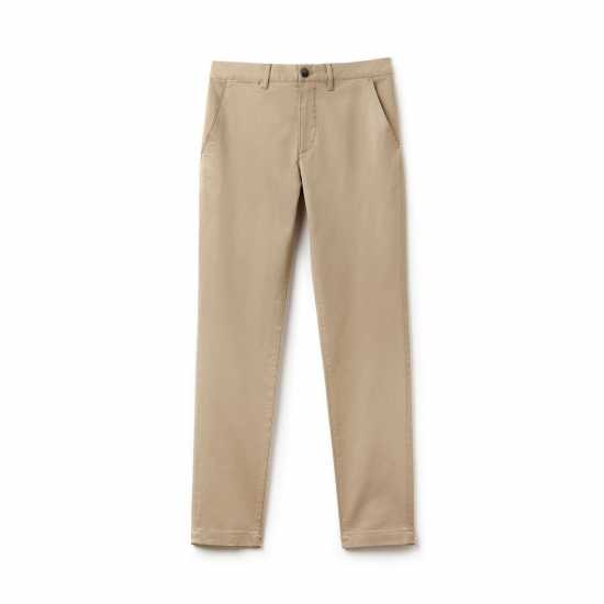 Lacoste Straight Cut Chinos Trouser -Carton Brown