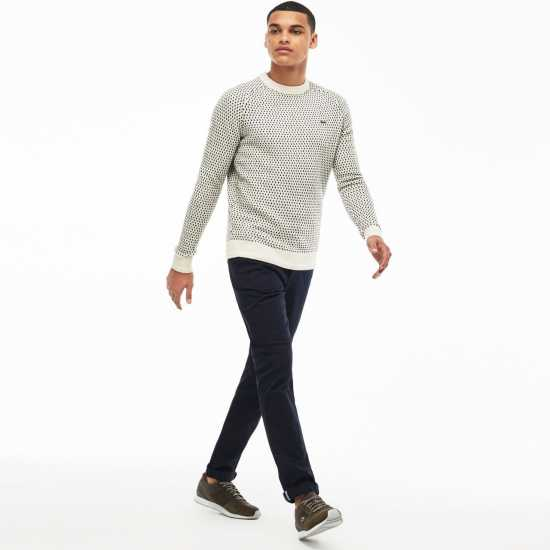 Lacoste Straight Cut Chinos Trouser Navy Blue