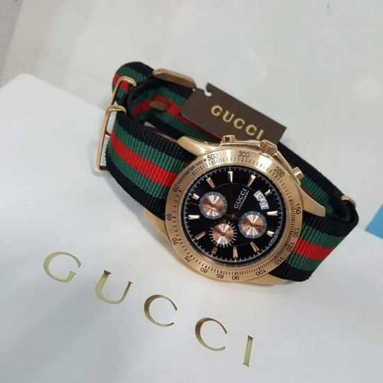 Gucci Leather Strap Watch