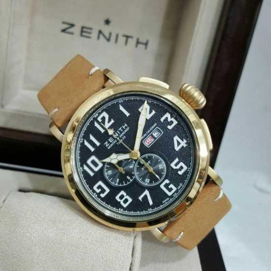 Zenith El Primero Pilot Men's Watch Brown Black