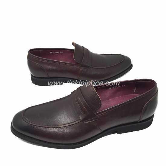 Zara Man Loafers Shoe Wine