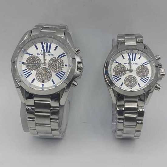 Micheal Kors Male and Female Watch Silver