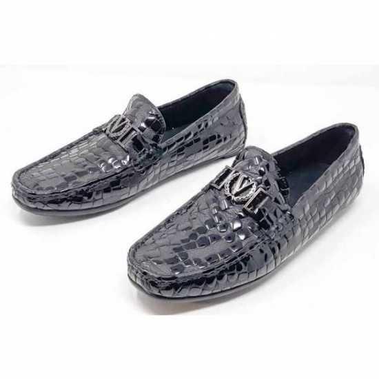 Louise Vuitton Snake Wet Looks Shoe Black