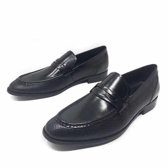Unze London Loafers Shoe Black