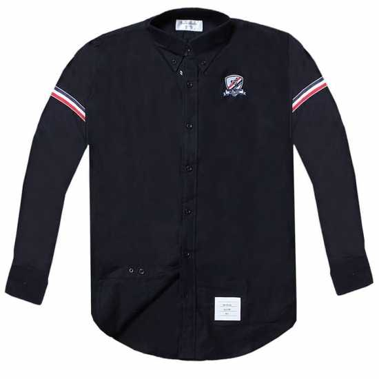 Thom Browne Chest Crested Long Sleeve shirt  Navy Blue
