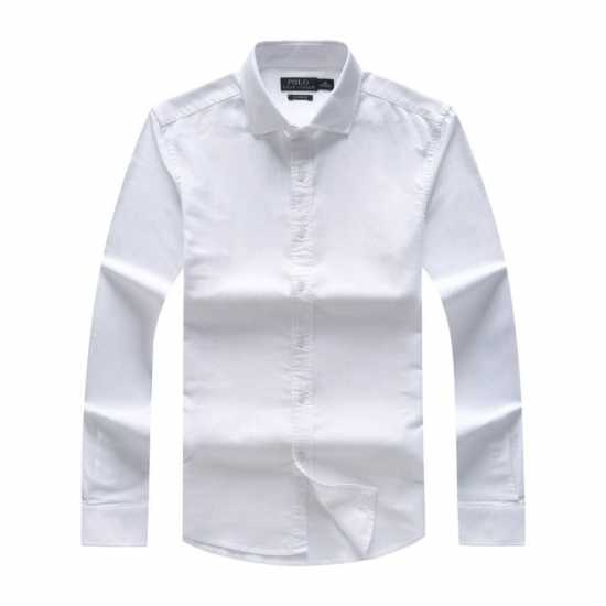 Ralph Lauren Long Sleeve Formal Plain Shirt White
