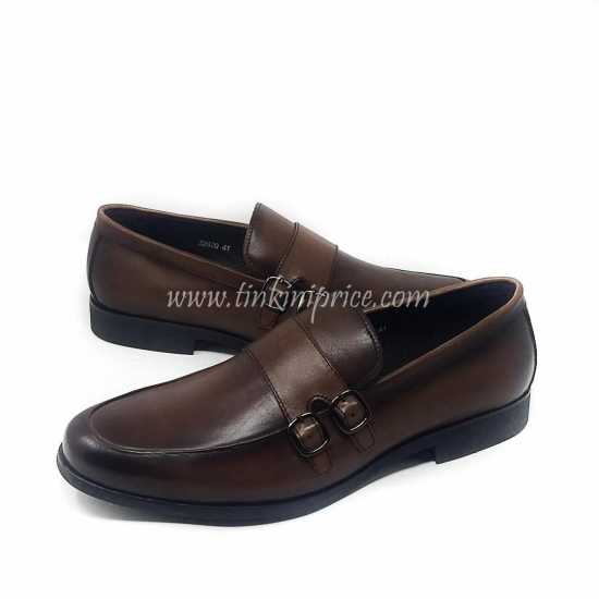 Robert Wood Double Buckle Loafers  Brown