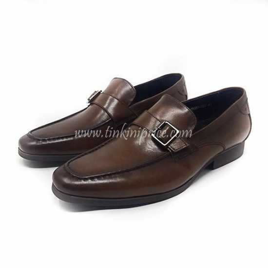 Robert Wood Double Singe Strap Loafer Brown