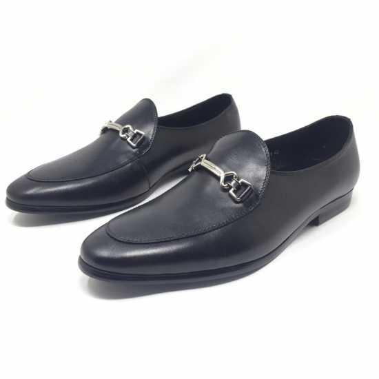 Loriblu Horsebit Plain Shoes Black