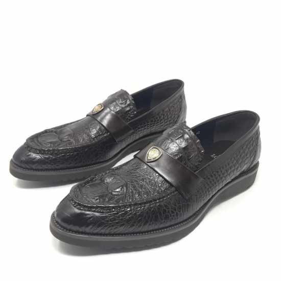 Loriblu Croc Design Shoes Coffee Brown