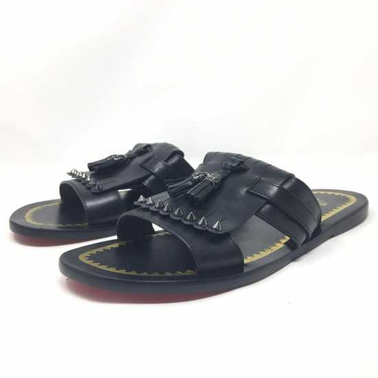 Christian Louboutin Leather Pam Slippers Black