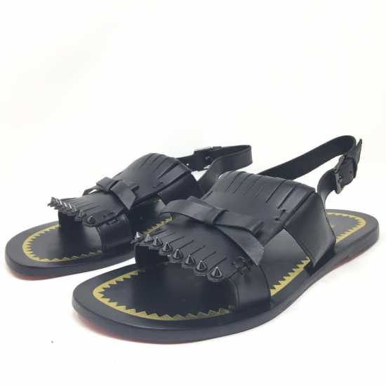 Christian Louboutin Leather Sandals Black