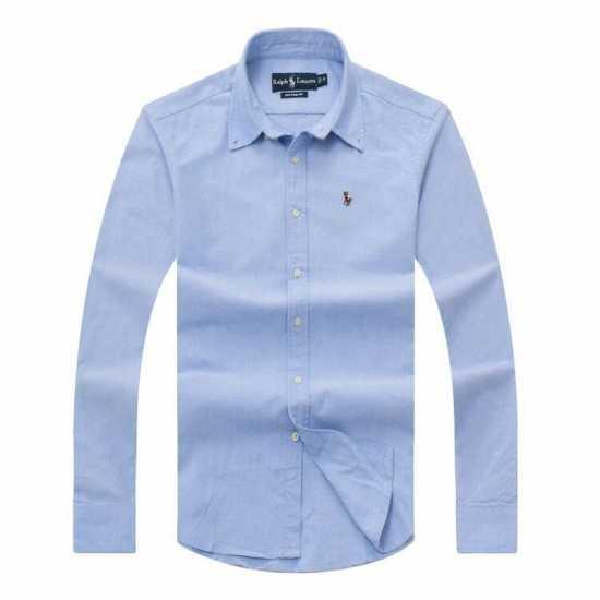 Ralph Lauren Plain Long Sleeve Shirt Sky Blue