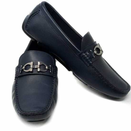 Salvatore Ferragamo Classic Loafers - Navy Blue