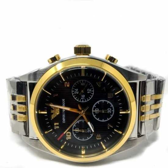 Emporio Armani Solid Stainless Steel Back AR-0373 Silver Gold