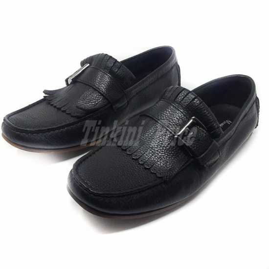 Massimo Dutti Buckle Loafers Black