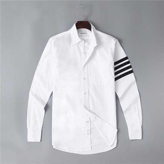 Thom Browne Arm Stripe Long Sleeve  Shirt White