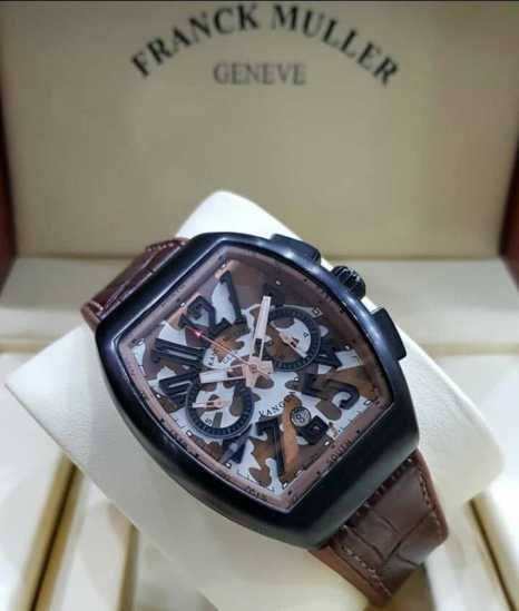 Frank Muller vanguard Leather Wristwatch Brown