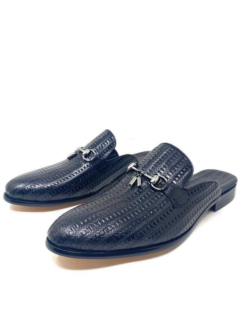 Louis Vuitton Men's Derby Half Shoe Black