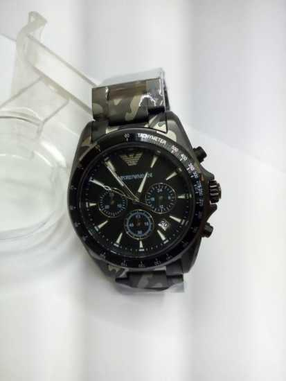Emporior Armani Camo Wrist Watch Black