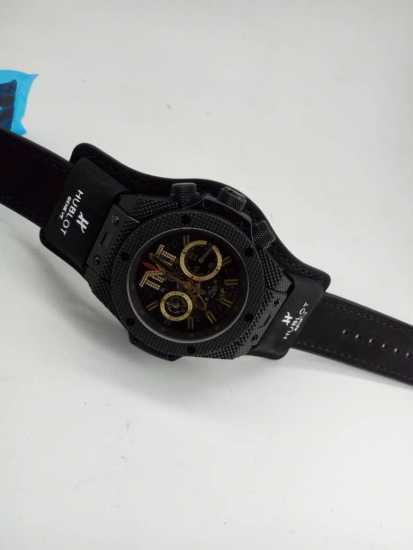 Hublot TMT Leather Wrist Watch Black