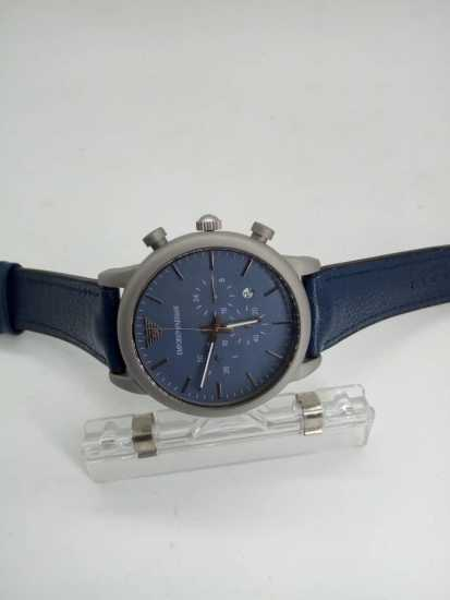 Emporio Armani Blue Leather Watch