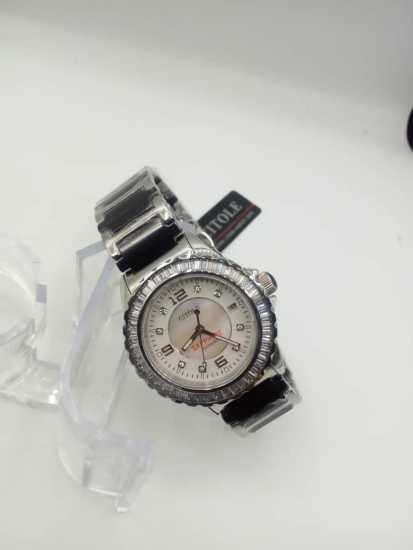 Citole Wrist Watch Silver Chain White Face