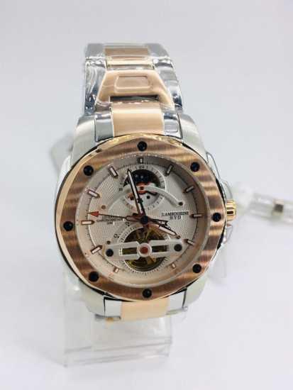 Lamboghini BYD Gold Silver Chronometer Watch